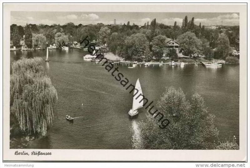 Berlin-Spandau - Stössensee - Foto-AK 50er Jahre