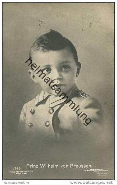 Preussen - Prinz Wilhelm von Preussen 1908