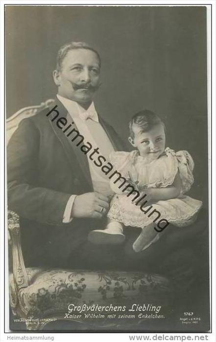 Preussen - Grossväterchens Liebling - Kaiser Wilhelm mit seinem Enkelchen 1907