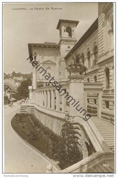 Lausanne - Le Palais de Rumine - Foto-AK 20er Jahre