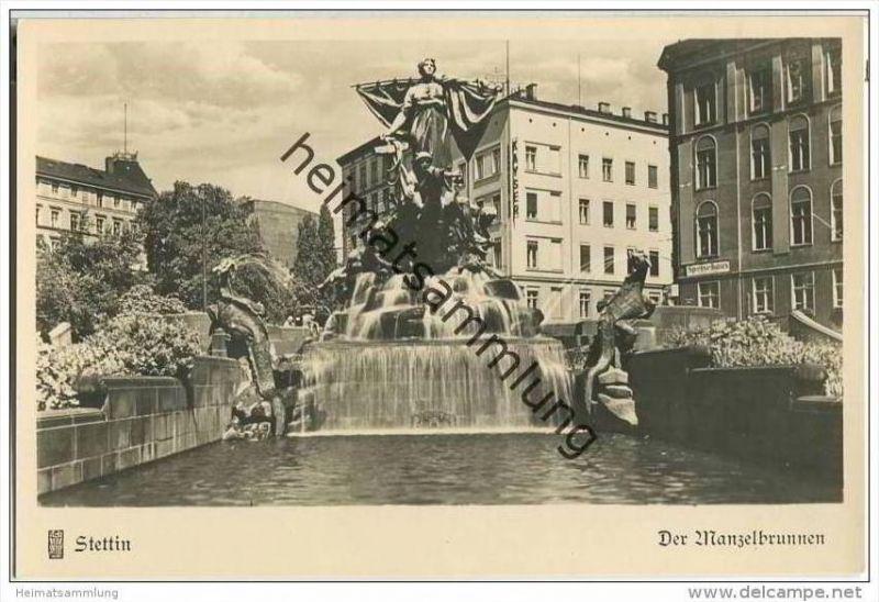 Szczecin - Stettin - Der Manzelbrunnen