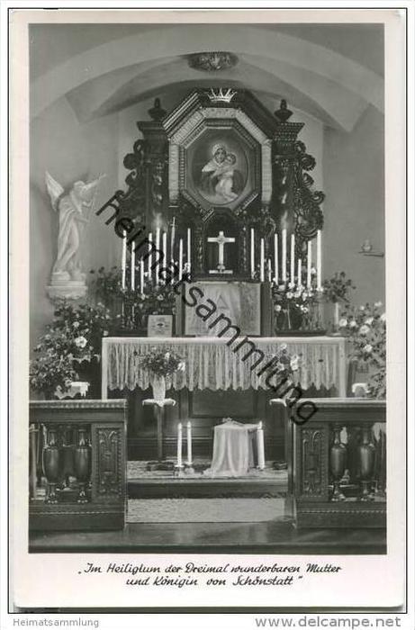Vallendar - Schönstatt - Im Heiligtum der Dreimal wunderbaren Mutter und Königin - Foto-AK