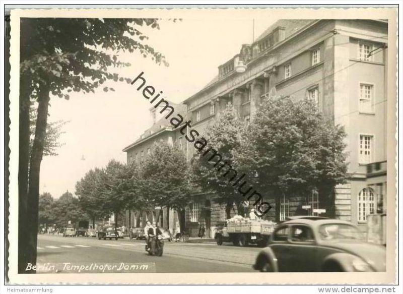 Ak Berlin Tempelhof Kirche Postamt Friedensplatz