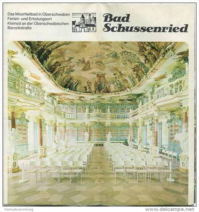 Bad Schussenried 1977 - Faltblatt mit 23 Abbildungen - Unterkunftsverzeichnis - Kurmittelpreise