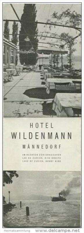 Männedorf - Hotel Wildenmann - Faltblatt mit 7 Abbildungen