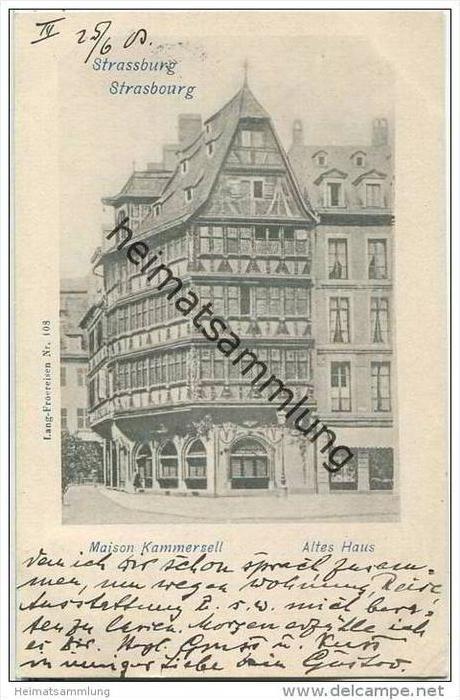 Strasbourg - Strassburg - Maison Kammerzell