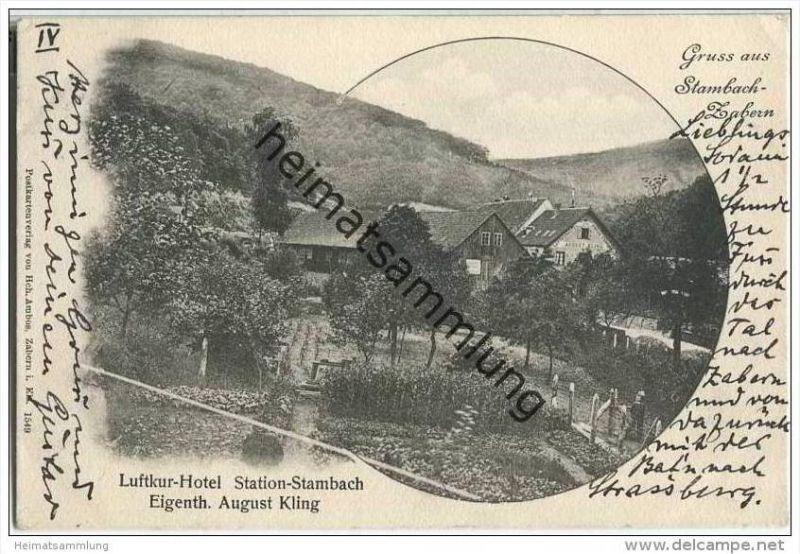 Saverne - Zabern - Stambach - Hotel Eigentümer August Kling