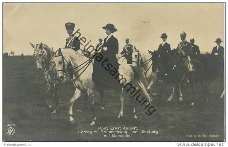 Prinz Ernst August Herzog zu Braunschweig und Lüneburg mit Gemahlin