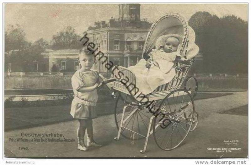 Prinz Wilhelm von Preussen und Prinz Louis Ferdinand von Preussen - Kinderwagen