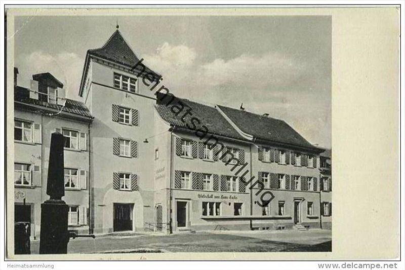 Schopfheim - Wirtschaft zum Hans Sachs Eigentümer L. Freiner
