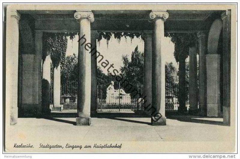 Karlsruhe - Stadtgarten - Eingang am Bahnhof