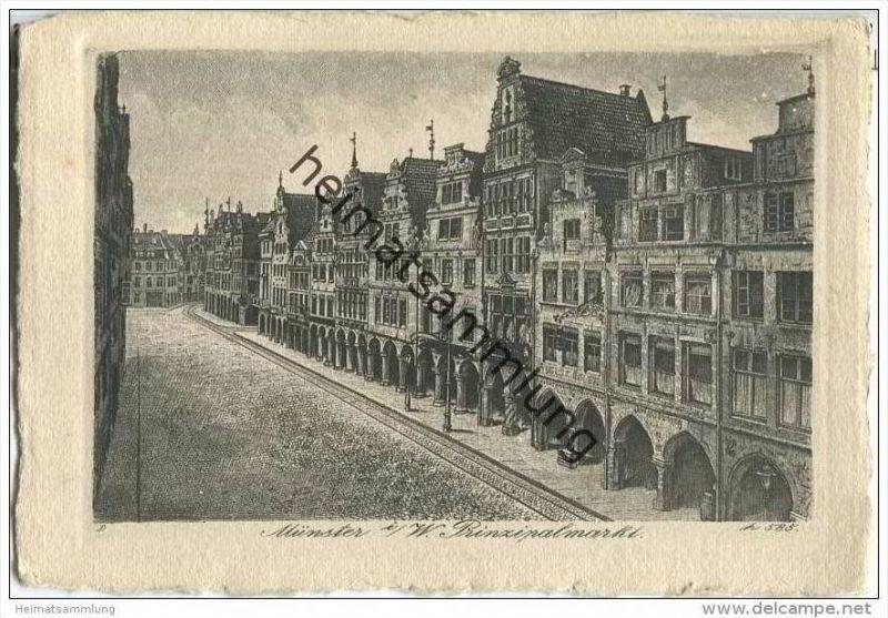 Münster - Prinzipalmarkt - Kupferradierung
