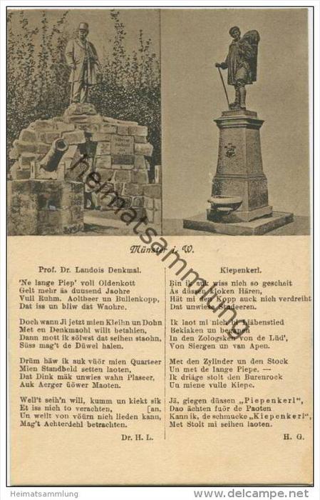 Münster in Westfalen - Prof. Dr. Landois Denkmal - Kiepenkerl