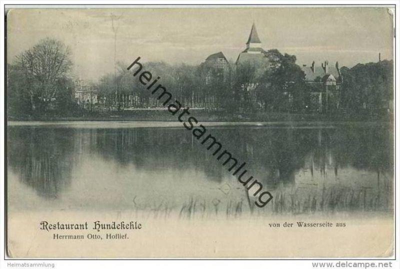 Restaurant Hundekehle von der Wasserseite - Besitzer Hermann Otto