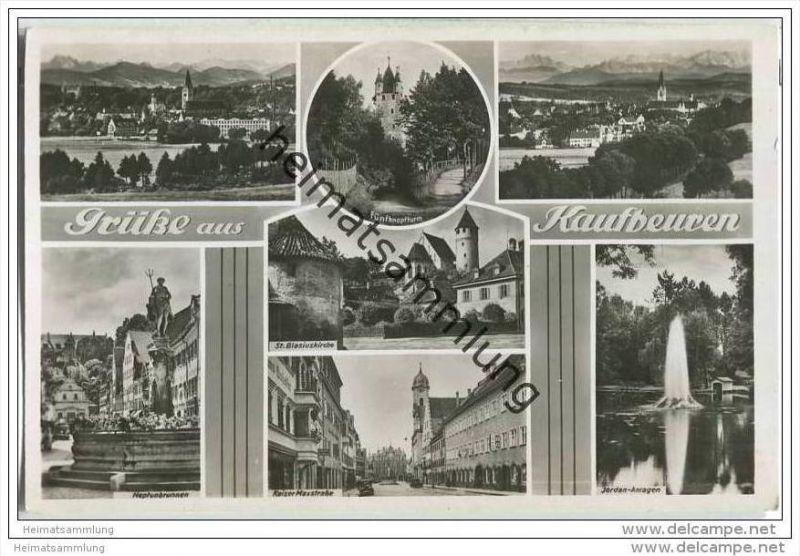 Kaufbeuren - Kaiser-Maxstrasse - St. Blasiuskirche - Feldpost
