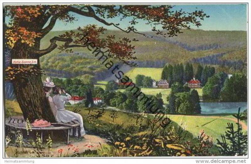 Eisenach - Blick vom Hirschstein nach Schloss Wilhelmstal