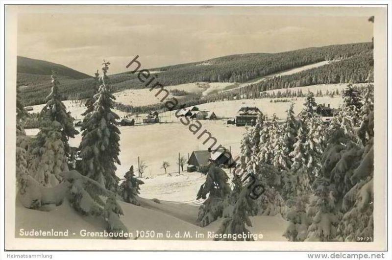 Grenzbauden im Riesengebirge - Foto-AK 30er Jahre