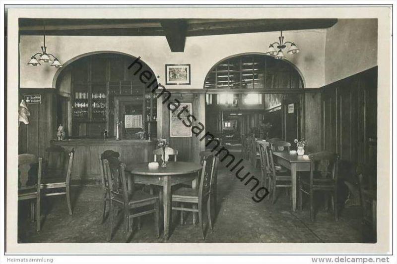 Rothenburg - Gasthaus zum grünen Baum - Besitzer Hans Schmidt - Foto-AK 30er Jahre