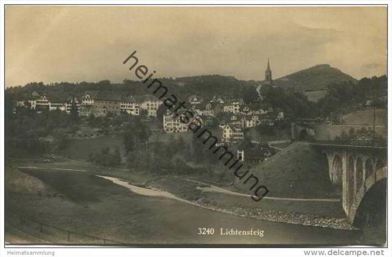 Lichtensteig - Foto-AK 20er Jahre