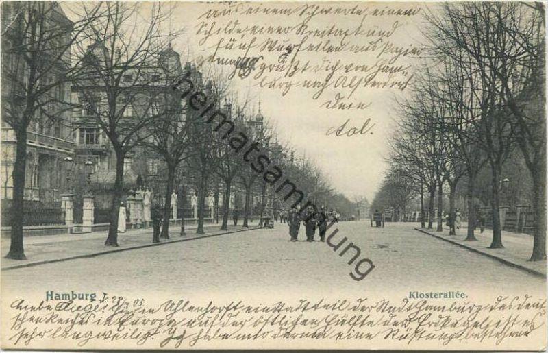 Hamburg-Alsterdorf - Klosterallee - Verlag Knackstedt & Näther Hamburg gel. 1905