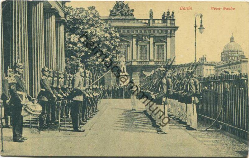 Berlin-Mitte - Neue Wache - Militär gel. 1912