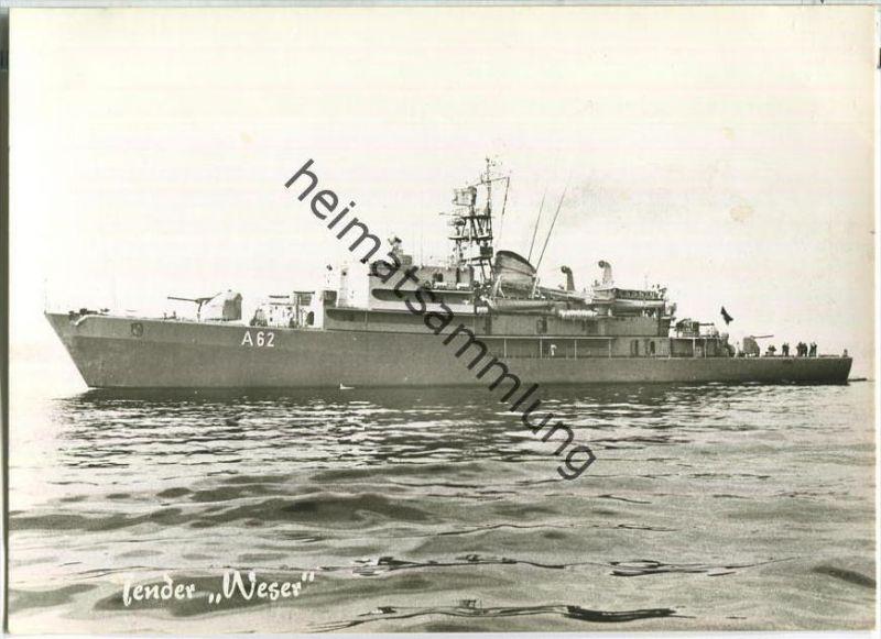 Bundeswehr - Unsere Flotte - Schulschiff Tender Weser - Foto-AK