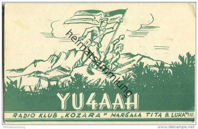 QSL - Funkkarte - YU4AAH - Bosnien-Herzegowina - Marsala Tita Banja Luka - 1961