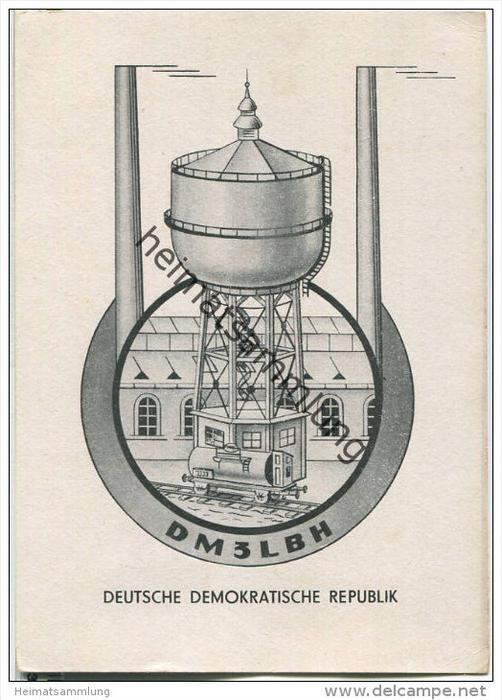 QSL - Funkkarte - DM3LBH - German Democratic Republic - Coswig - GST Bezirk Halle - 1958