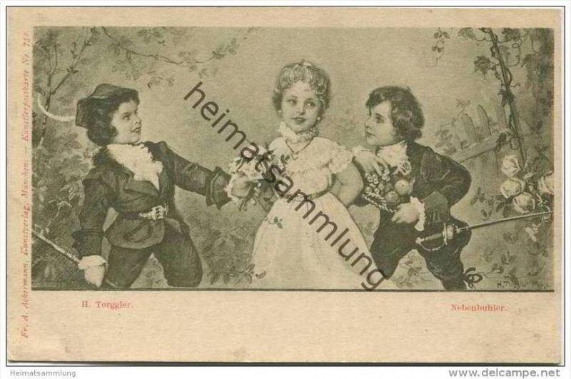 Nebenbuhler - Künstlerkarte H. Torggler Nr. 750