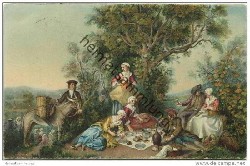 Herbst - Künstlerkarte Nicolas Lancret  - Verlag Stengel & Co. Dresden 29465
