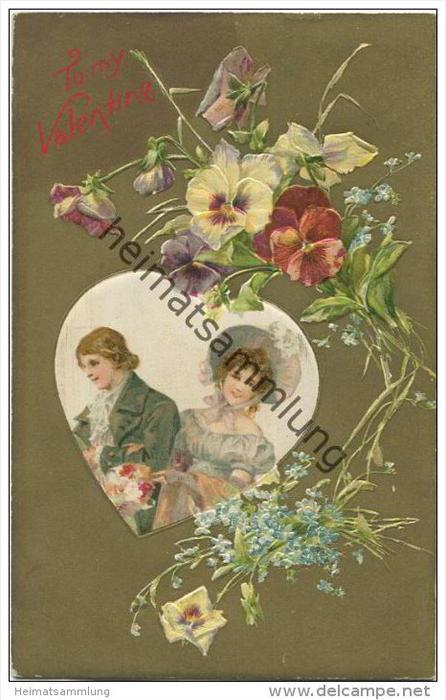 Tomy Valentine Stiefmütterchen - Vergissmeinnicht - Prägedruck
