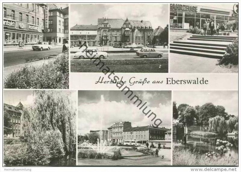 Eberswalde - Friedrich-Ebert-Strasse - Platz der Freundschaft - Foto-AK Grossformat