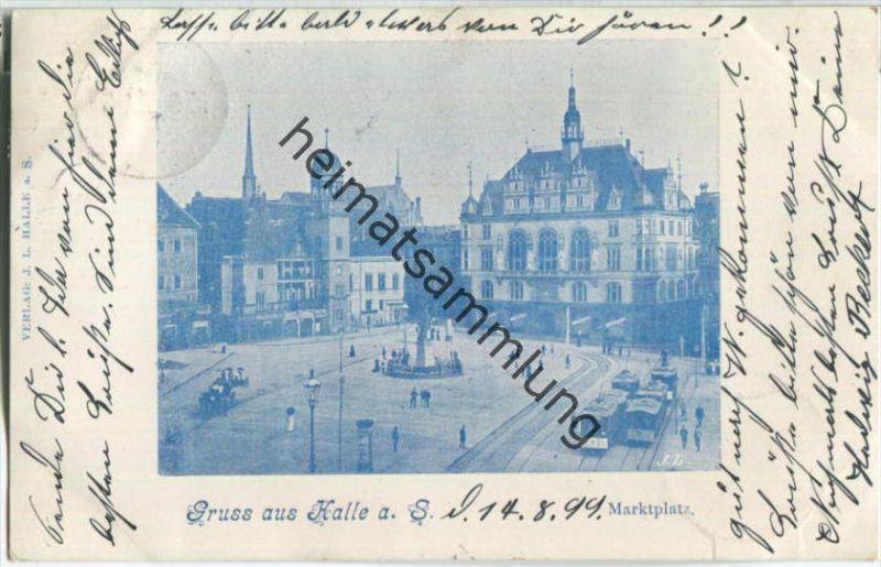 Halle (Saale) - Marktplatz - Straßenbahn