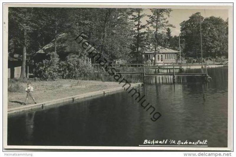 Buchwald im Riesengebirge - Bukowiec - Badeanstalt - Foto-AK 30er Jahre