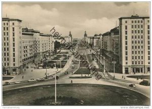 Berlin-Mitte - Stalinallee - Blick nach Osten - Foto-AK Grossformat