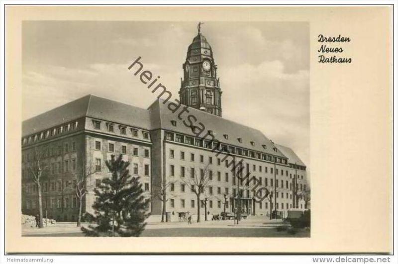 Dresden - Neues Rathaus - Foto-AK