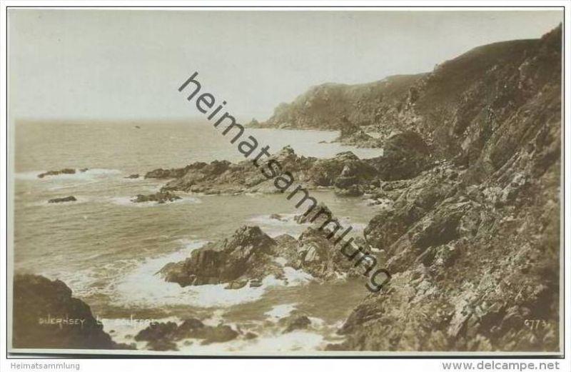 Guernsey - Le Gouffre - Foto-AK ca. 1920