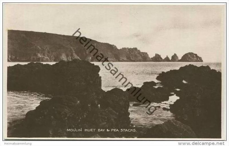 Guernsey - Moulin Huet Bay & Pea Stacks - Foto-AK ca. 1920
