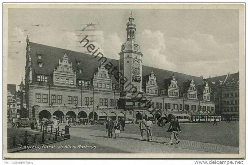 Leipzig - Markt mit Altem Rathaus