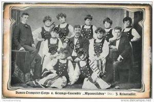 Alpenveilchen - Damen-Trompeter-Corps und Gesangs-Ensemble - Dir. J. Reinstadler ca. 1920
