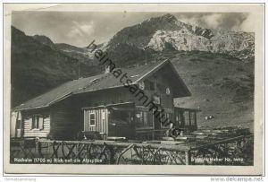 Hochalm mit Blick auf die Alpspitze - Foto-AK