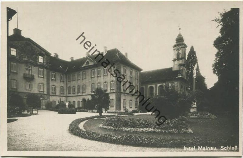 Insel Mainau - Schloss - Foto-AK 20er Jahre - Verlag H. Sting Tübingen