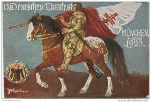 München - Offizielle Festpostkarte - 13. Deutsches Turnfest 1923