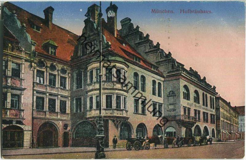München - Hofbräuhaus - Feldpost - Verlag H. Wutz München