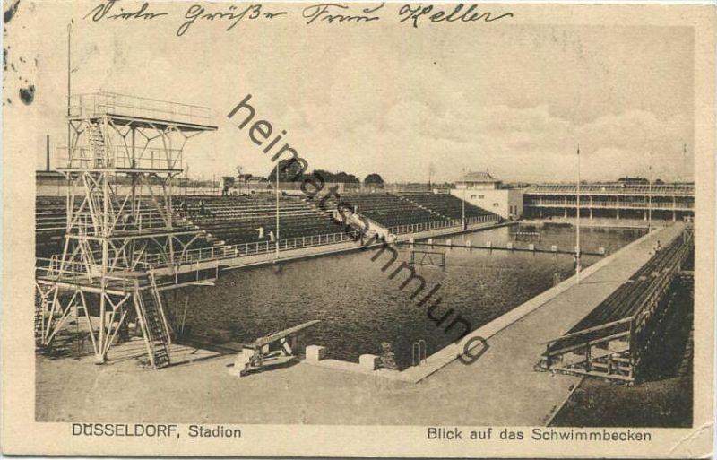 Düsseldorf   Stadion   Blick Auf Das Schwimmbecken   Verlag Karl Fischer  Eltville Am Rhein 0
