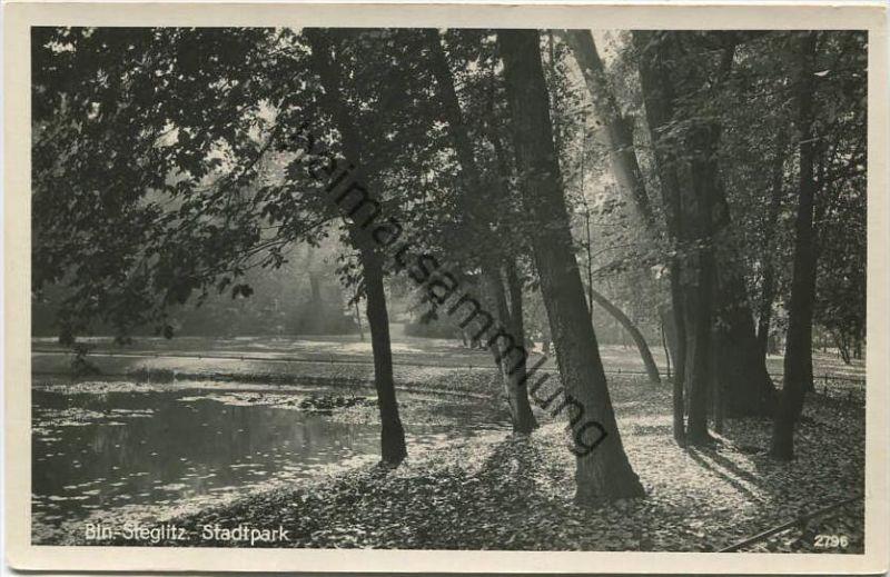 Berlin - Stadtpark - Foto-AK 30er Jahre