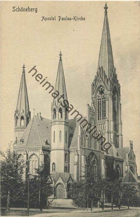 Berlin-Schöneberg - Apostel Paulus Kirche - Verlag S. & G. Saulsohn Berlin 30er Jahre