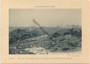 Paysages Suisses - Vue sur les Alpes prise au sommet des Rochers de Naye - Edition Comptoir de Phototypie Neuchatel No.