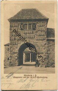 69469 Weinheim - Wappentor auf der WSC Wachenburg - Offizielle Postkarte des Alte-Herren-Verbandes - Feldpost