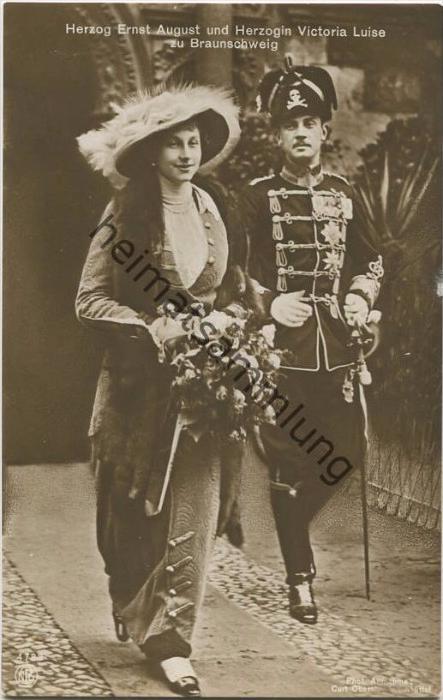 Herzog Ernst August und Herzogin Victoria Luise zu Braunschweig - Verlag NPG - Phot. Curt Oberst Wolfenbüttel